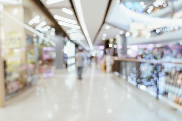 Desenfoque abstracto centro comercial de lujo y tienda minorista para el fondo