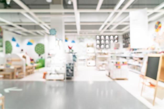 Desenfoque abstracto decoración de muebles y almacén interior de la tienda