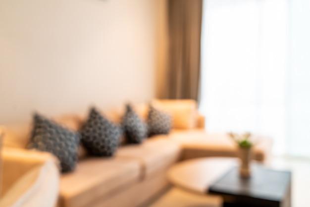 Desenfoque abstracto y desenfocado interior de la sala de estar como fondo borroso