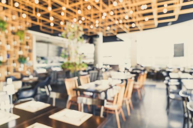 Desenfoque abstracto y desenfocado en el restaurante