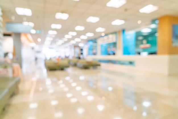 Desenfoque abstracto y desenfoque en el hospital