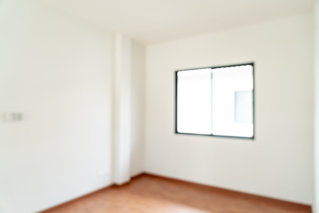Desenfoque abstracto habitación vacía con ventana y puerta en casa