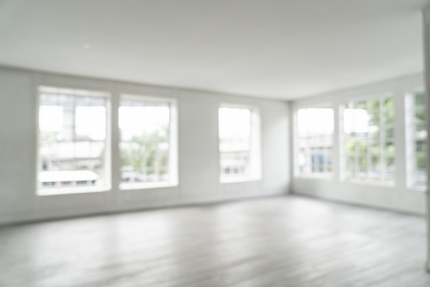 Desenfoque abstracto habitación vacía con ventana de vidrio