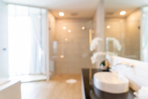 Desenfoque abstracto interior de baño