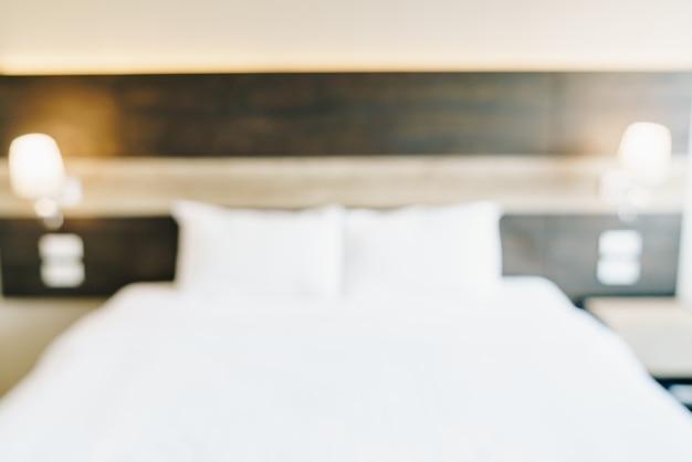 Desenfoque abstracto y interior del dormitorio desenfocado