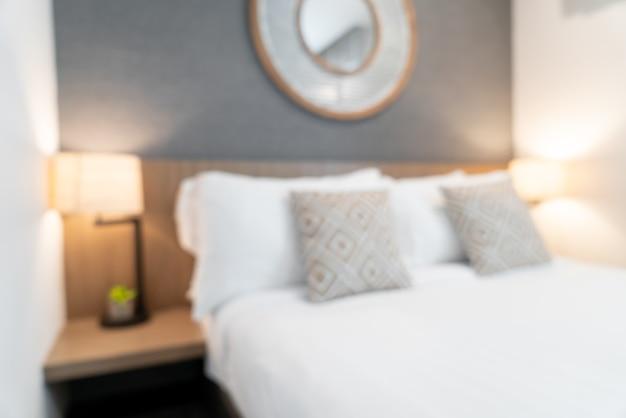 Desenfoque abstracto interior de dormitorio de hotel de lujo hermoso para el fondo