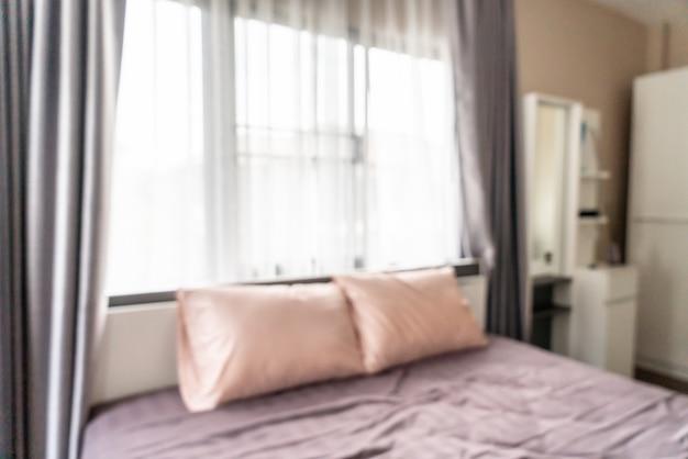 Desenfoque abstracto interior del dormitorio