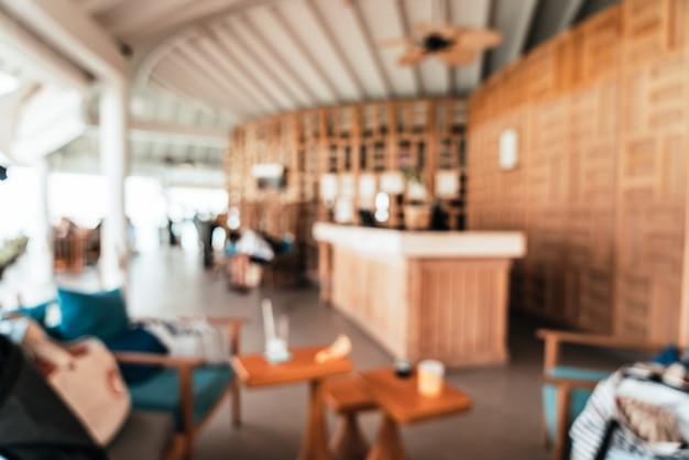 Desenfoque abstracto y lobby del hotel desenfocado