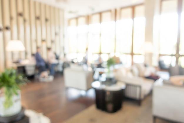 Desenfoque abstracto lobby del hotel de lujo para el fondo