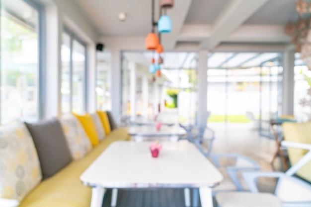 Desenfoque abstracto y restaurante cafetería desenfocado para