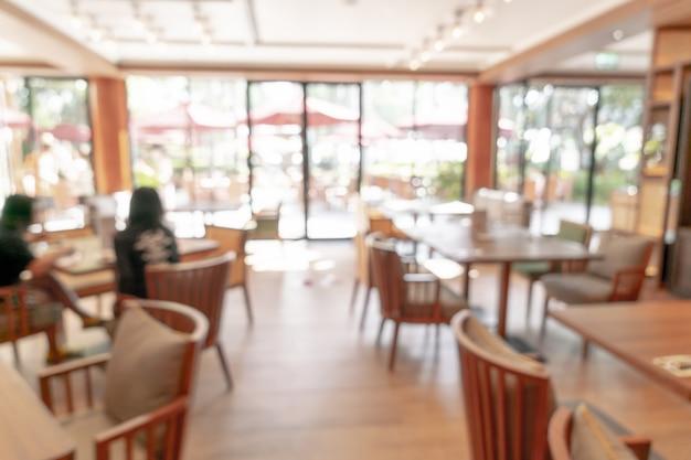 Desenfoque abstracto y restaurante del hotel desenfocado