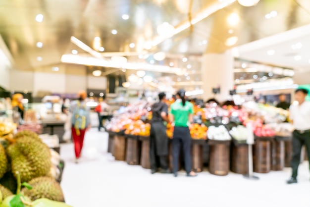 Desenfoque abstracto en supermercado