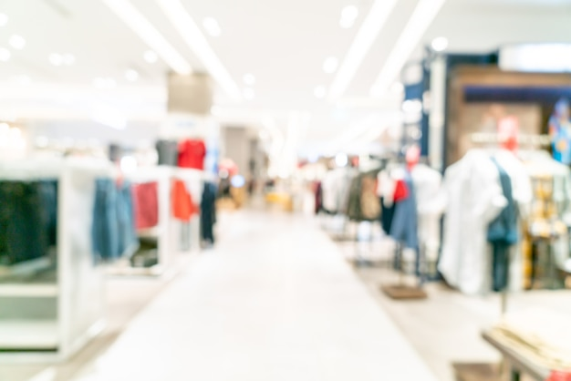 Desenfoque abstracto tienda y tienda en el centro comercial de fondo