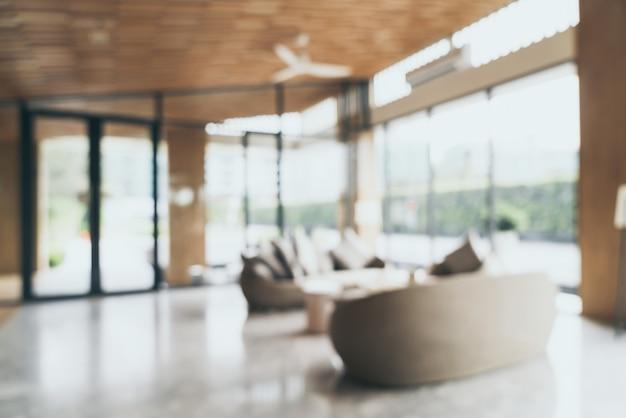 Desenfoque abstracto y vestíbulo desenfocado en el complejo hotelero