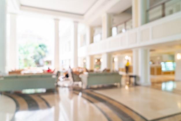 Desenfoque abstracto vestíbulo y salón del hotel de lujo