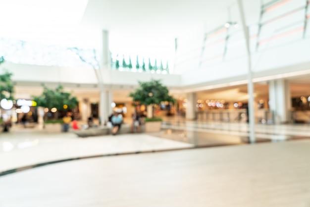 Desenfoque de centro comercial y grandes almacenes