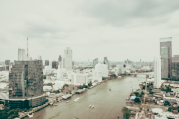 Desenfoque de la ciudad de bangkok