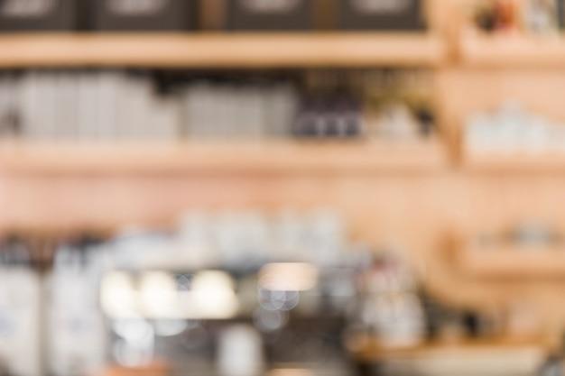 Desenfoque de fondo de la cafetería