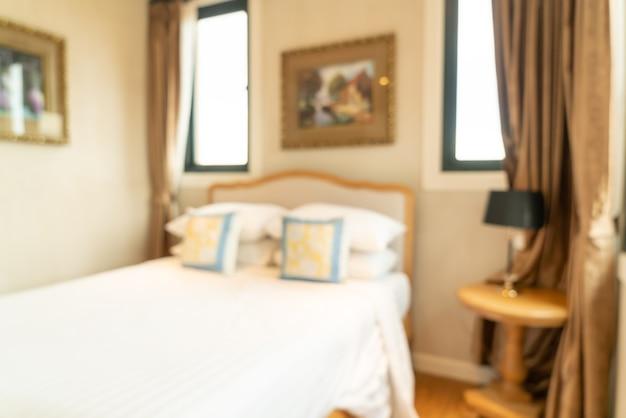 Desenfoque de interior de dormitorio