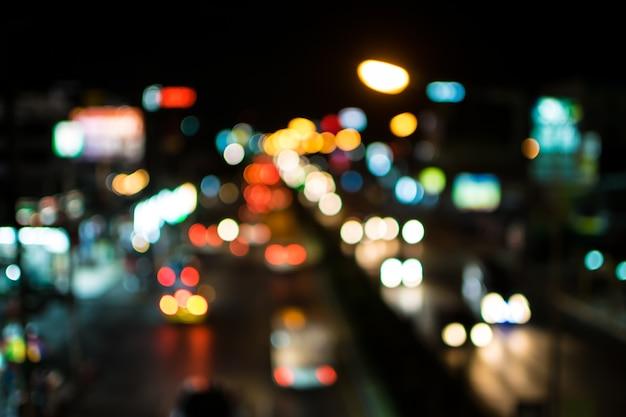 Desenfoque de luces bokeh abstractas