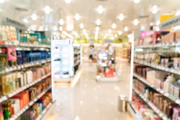 Desenfoque de pasillo en supermercado