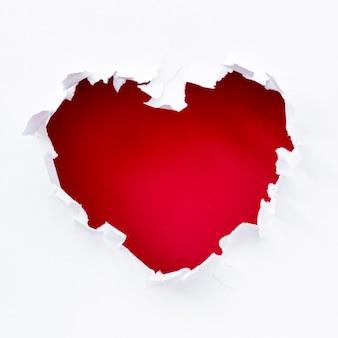 Desgarro de corazón para el día de san valentín