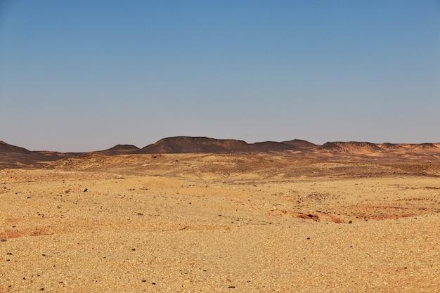 Desierto del sahara en sudán, áfrica