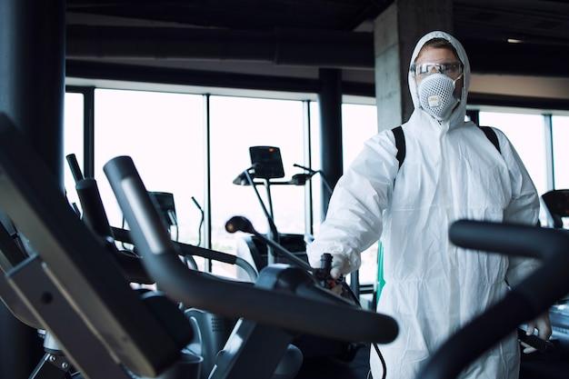 Desinfección y sanidad de gimnasios