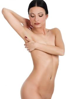 Desnudo femenino fondo hermoso atractivo