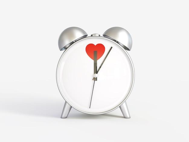 Despertador. horas. tiempo de amor. día de san valentín.