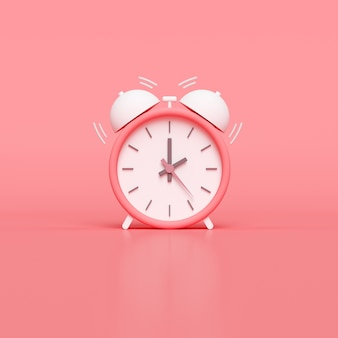 Despertador minimal pink. render 3d