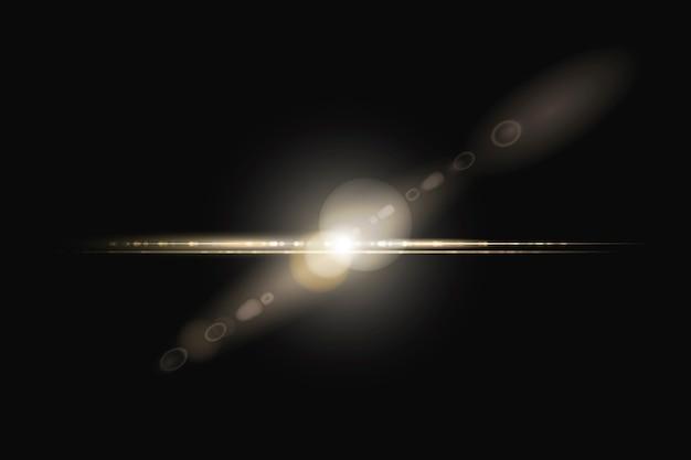 Destello de lente amarillo abstracto con elemento de diseño de espectro fantasma