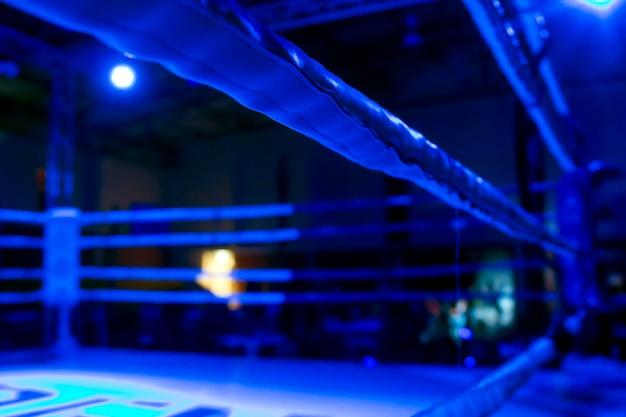 Detalle del anillo de kickboxer