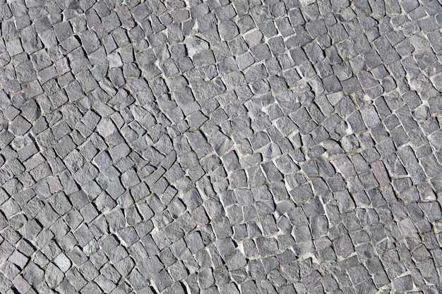 Detalle del camino de bloques de piedra