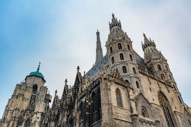 Detalle de la catedral de stephansdom en viena