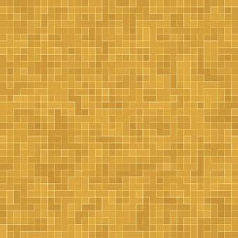 Detalle del edificio adornado de mosaico de cerámica abstracta de textura mosiac de oro amarillo. resumen de patrones sin fisuras. piedras cerámicas de colores abstractos.
