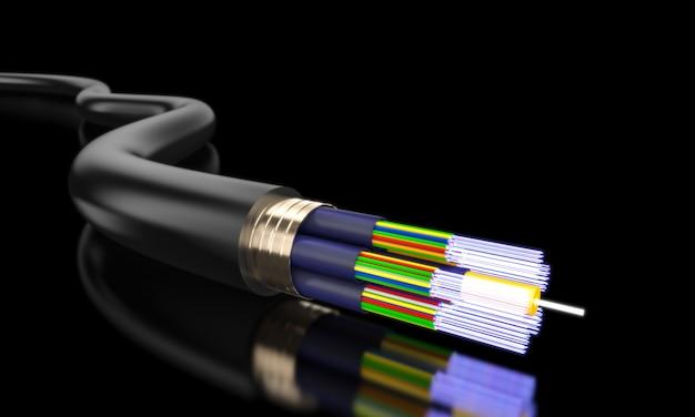 Detalle de fibra óptica.