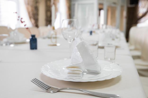 Detalle de la mesa servida.