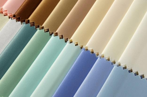 Detalle de las muestras de textura de tela de color