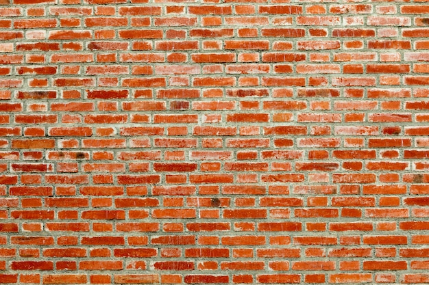 Detalle de un muro de ladrillo rojo