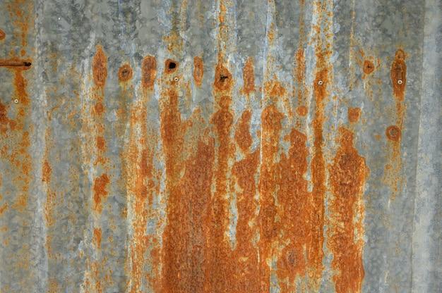 Detalle oxidado del fondo de la textura del cinc.