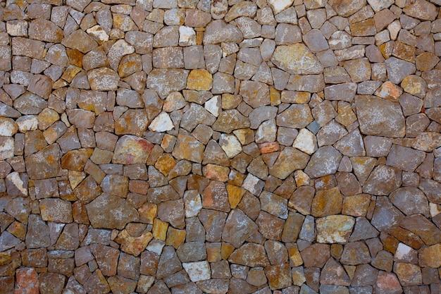 Detalle de la pared de mampostería de ibiza de piedra mediterránea