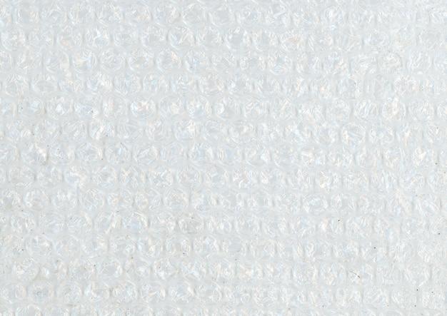 Detalle de plástico de burbujas
