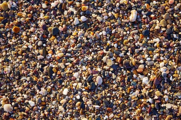 Detalle de primer plano de textura de arena de almeria cabo de gata