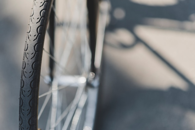 Detalle de la rueda de bicicleta