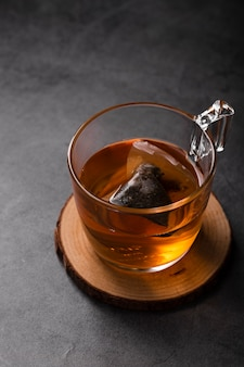 Detalle de la taza de té foto de estudio