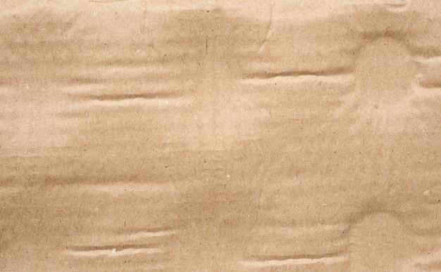 Detalle de textura de papel de cartón marrón