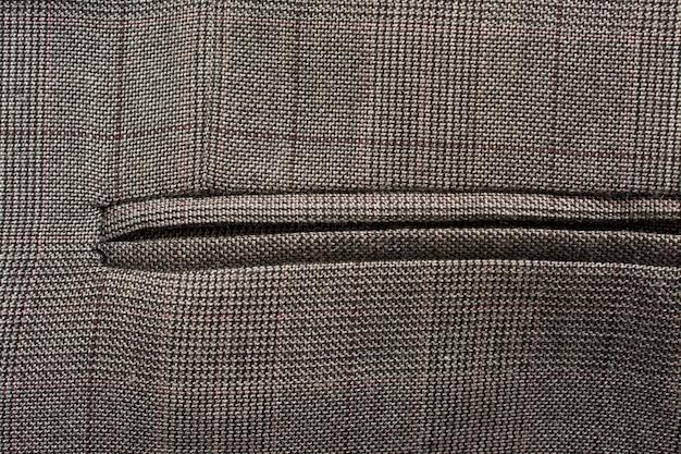 Detalle de traje de negocios de un hombre sastrería