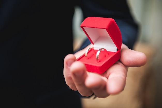 Detalles de la boda: anillos de boda como símbolo de una vida feliz