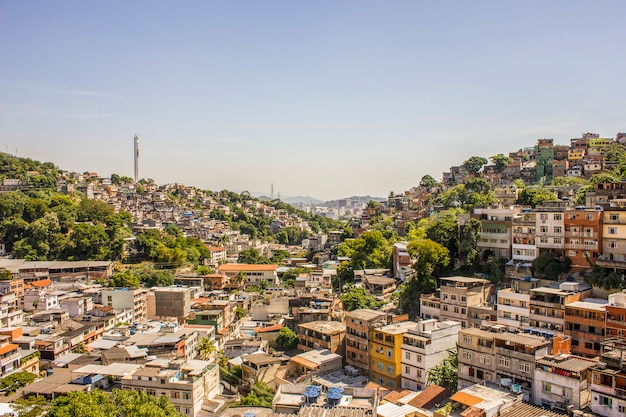 Detalles de la colina de los placeres en río de janeiro - brasil